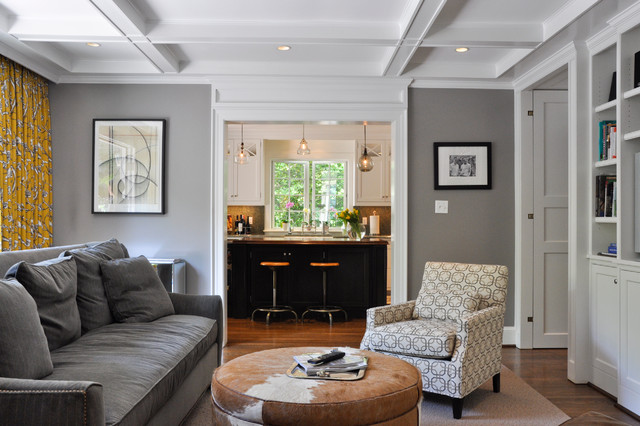 Suburban dc cahill residence contemporary living for Gray and white family rooms