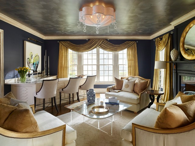 Suburban Glam Eclectic Living Room Philadelphia By