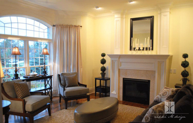 Suburban Home Contemporary Living Room New York By