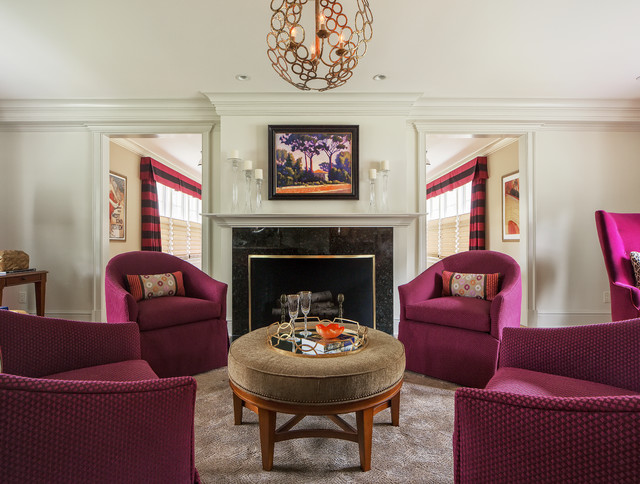 Suburban jewel tones that is traditional living - Jewel tone living room ...