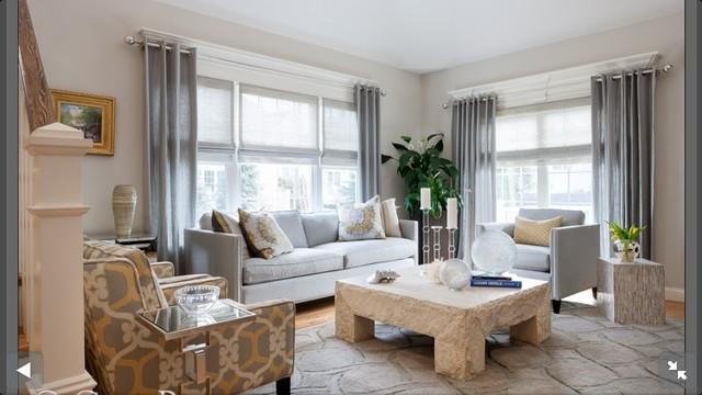 Suburban Townhouse contemporary-living-room
