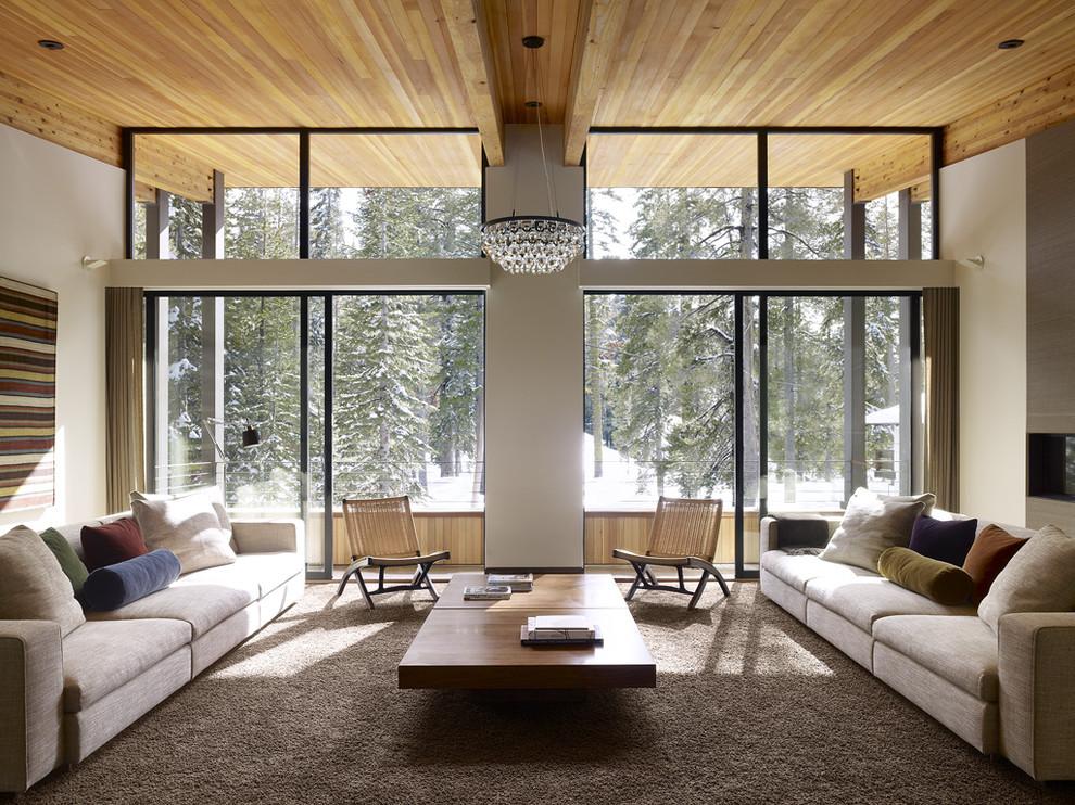 Inspiration for a huge modern living room remodel in Sacramento