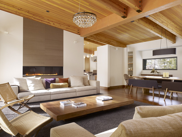 Sugar Bowl Residence - John Maniscalco Architecture midcentury-living-room