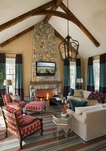Summer Home on Martha's Vineyard traditional-living-room