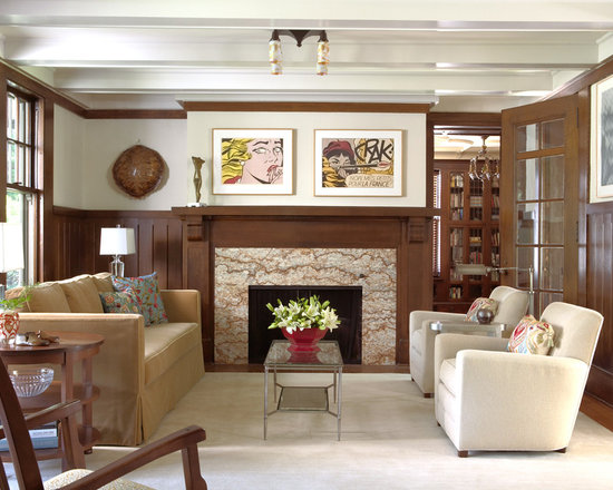 craftsman earth tone colors living room design ideas pictures
