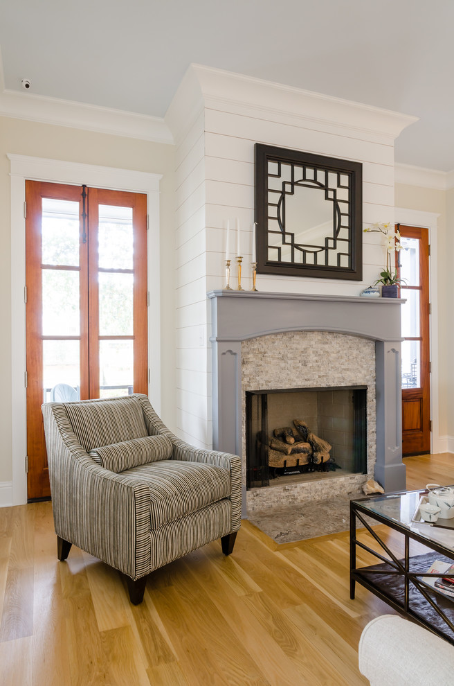 Inspiration for a country living room remodel in Other
