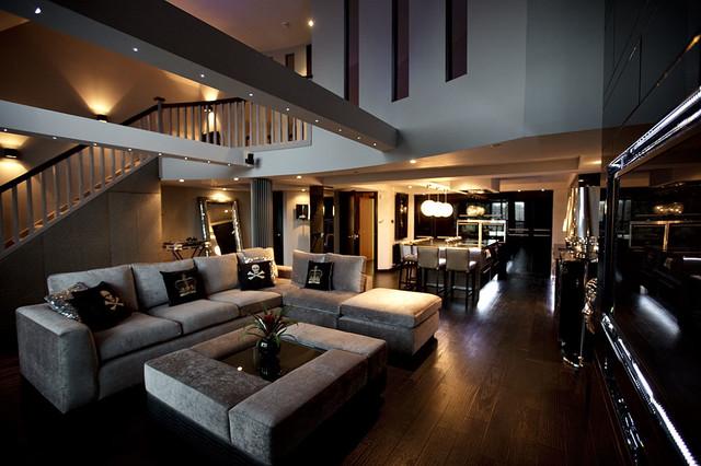 Sumptuous Duplex Apartment contemporary-family-room