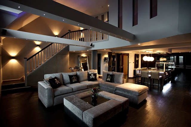 Sumptuous Duplex Apartment contemporary-family-room