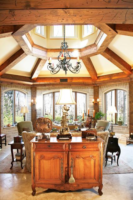 Sun Porch Addition Mediterranean Living Room Atlanta