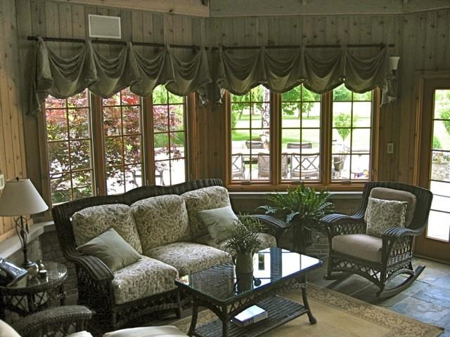 Sun Room tropical-living-room