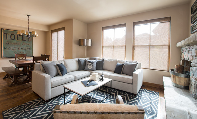 Sun Valley Bachelor Pad Transitional Living Room Boise By The Picket Fence
