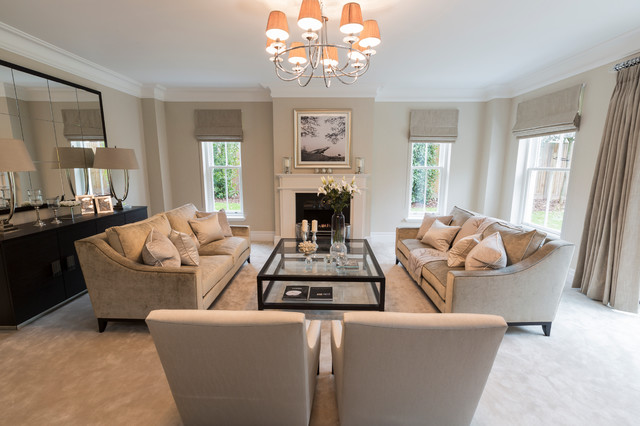 Sunningdale Berkshire Transitional Living Room