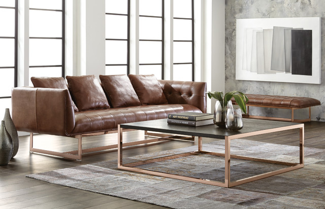 Sunpan Matisse Sofa And Baxter Coffee Table Contemporary Living Room
