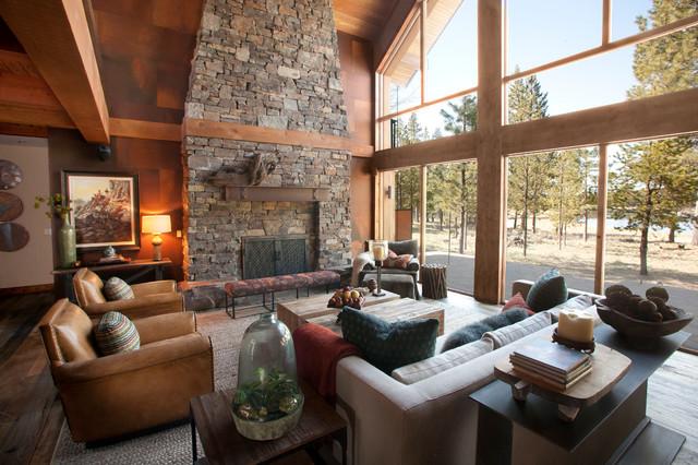 Sunriver Family Lodge contemporary-living-room