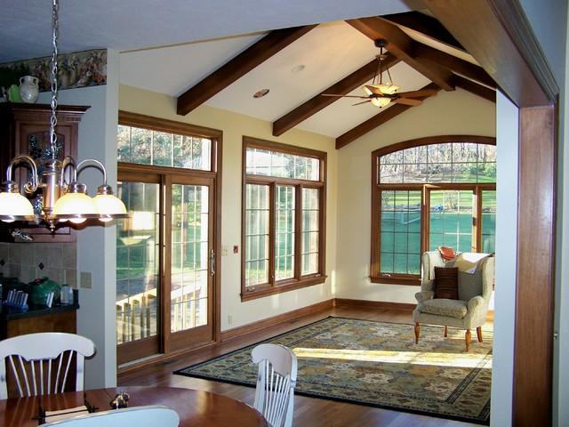 Sunroom addition for Living room addition plans
