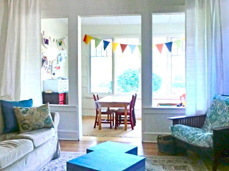 Sunroom Playroom Family Room Eclectic Living Room