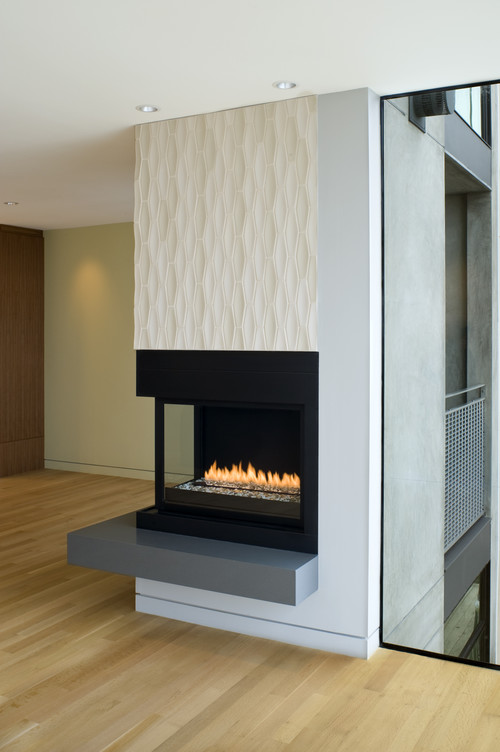 Does anyone have any ideas about how to incorporate this 2 sided fireplace ideas