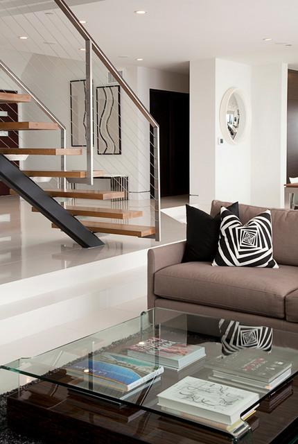Sunset Plaza contemporary-living-room