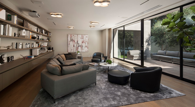 Sunset Strip Contemporary Living Room Los Angeles