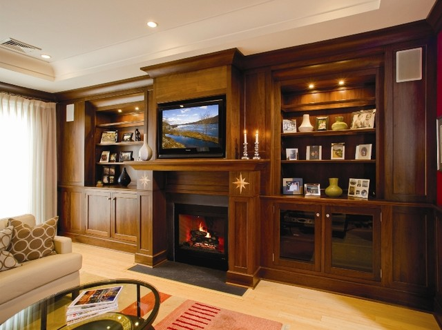 Superior Woodcraft Entertainment Center traditional living room