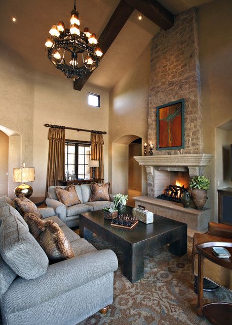 Traditional Living Room Interior Design: Superstition Mt. Residence