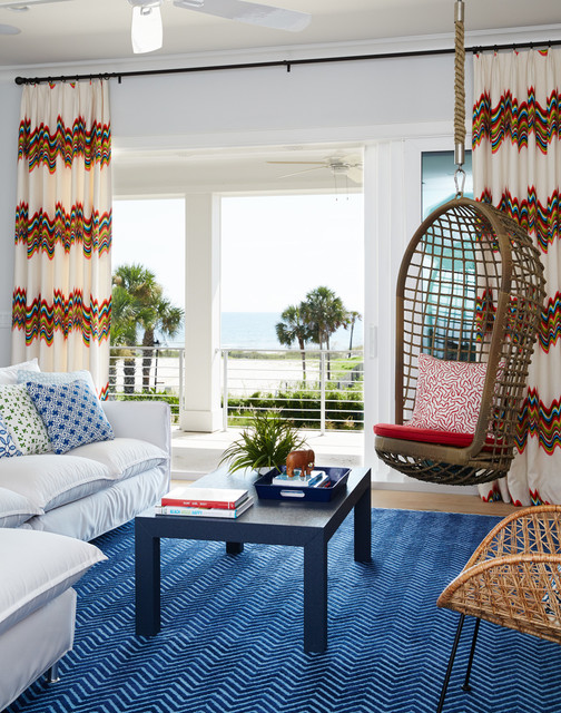 Surf Shack Beach Style Living Room By Andrew Howard