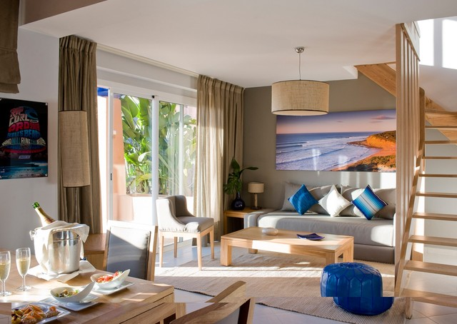 Surf, Yoga & Spa Resort contemporary-living-room