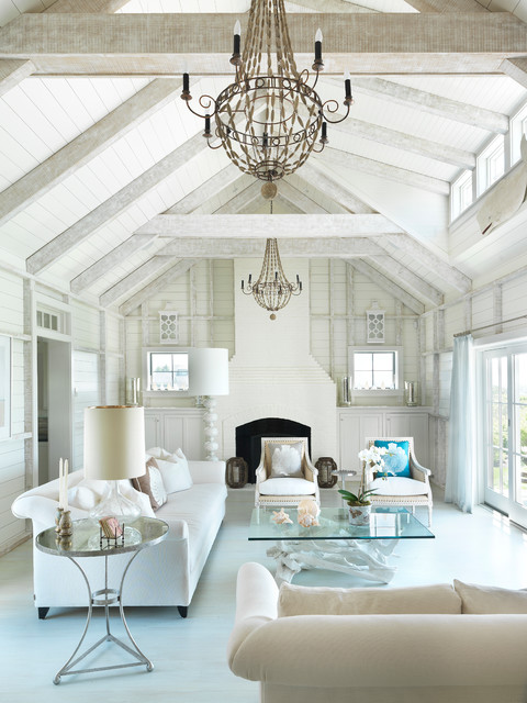 Surfside Chic Nantucket Beach Style Living Room