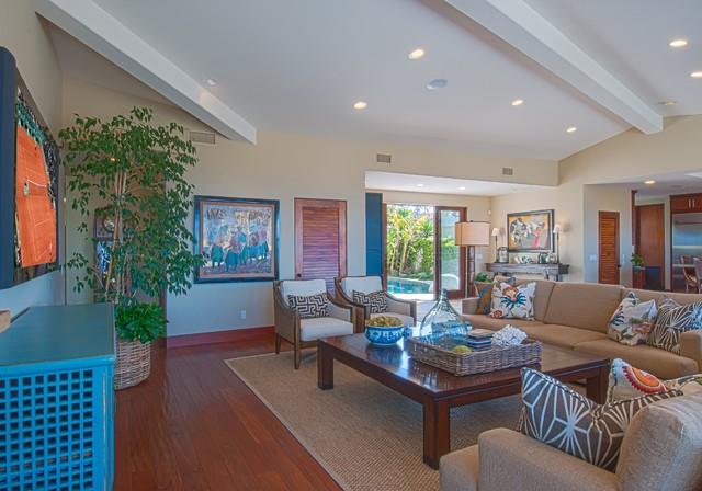Surrey Drive tropical-living-room