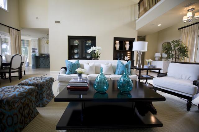 Susie Ralls Designs beach-style-living-room