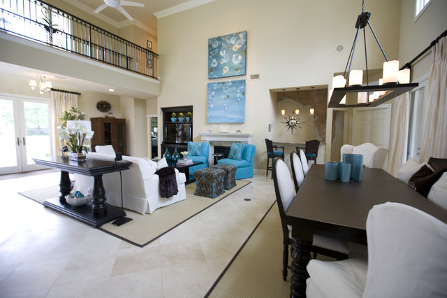 Susie Ralls Designs beach-style-living-room