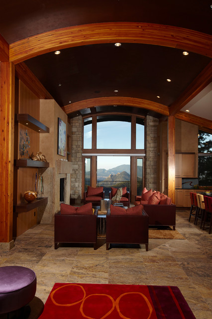 Sustainable Cliffside Living living-room
