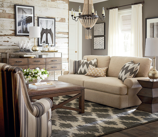 Sutton Sofa By Bassett Furniture Contemporary Living Room