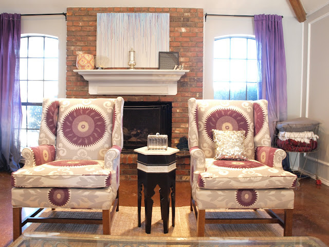 Suzani Fabric Chairs Eclectic Living Room By High Fashion Home