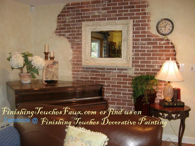 Suzanneu0027s Brick Wall Traditional Living Room Part 73