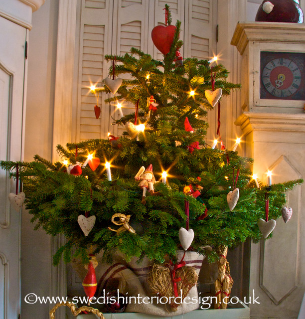 Swedish Christmas Tree Design Traditional Living Room