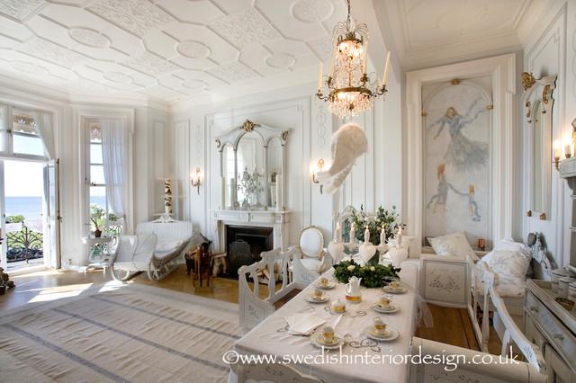 Swedish gustavian living room traditional living room for Swedish living room ideas