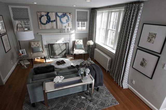 sweet sophistication living room modern living room dc metro by perceptions interiors. Black Bedroom Furniture Sets. Home Design Ideas