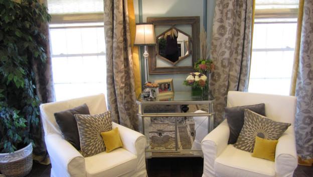 Sweet Surroundings, LLC - custom window treatments and slipcovers contemporary-living-room