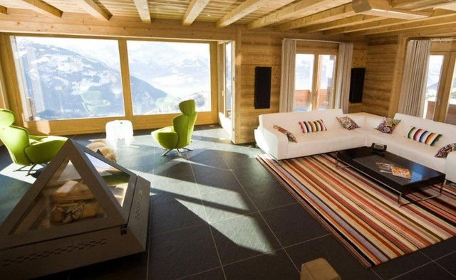 Swiss Alpine Chalet Modern Living Room Sussex by Space