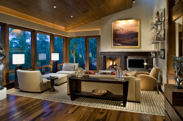 Switchback House Contemporary Living Room