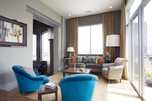 Sylvia Martin industrial-living-room