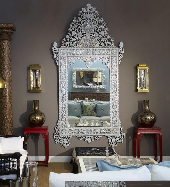 Syrian Moroccan Mirror Mediterranean Living Room
