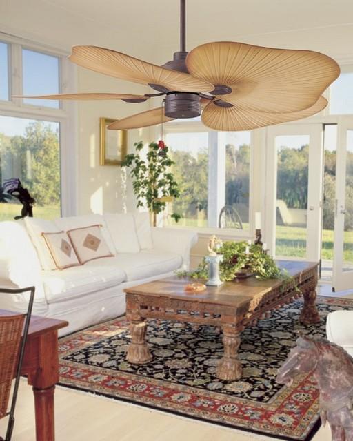 Ceiling Fan With Leaf Blades
