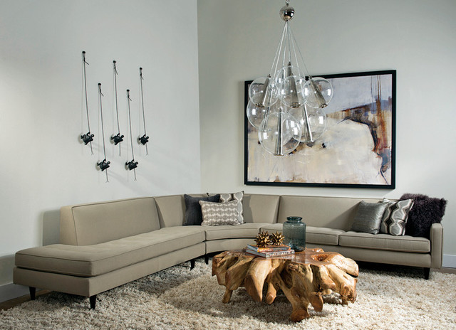 Contemporary Living Room by High Fashion Home