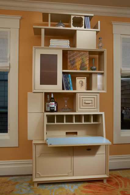 Tall Blonde Secretary by Thomas Wold eclectic-living-room