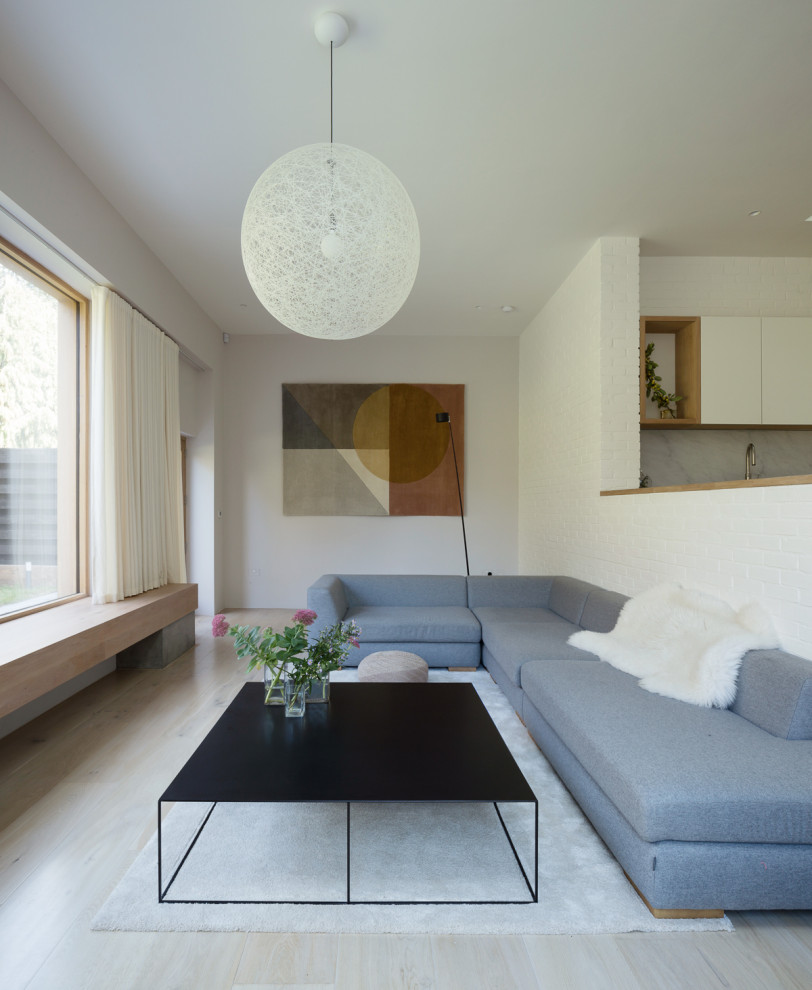 Inspiration for a scandinavian living room remodel in Other