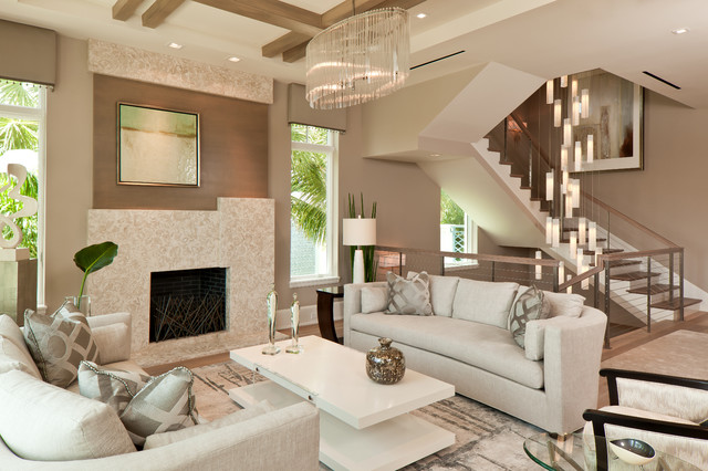Tanzania Chandelier   Contemporary Living Room Stairwell Light Fixture  Contemporary Living Room