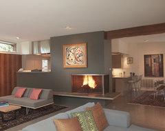 Tarrytown Residence midcentury-living-room