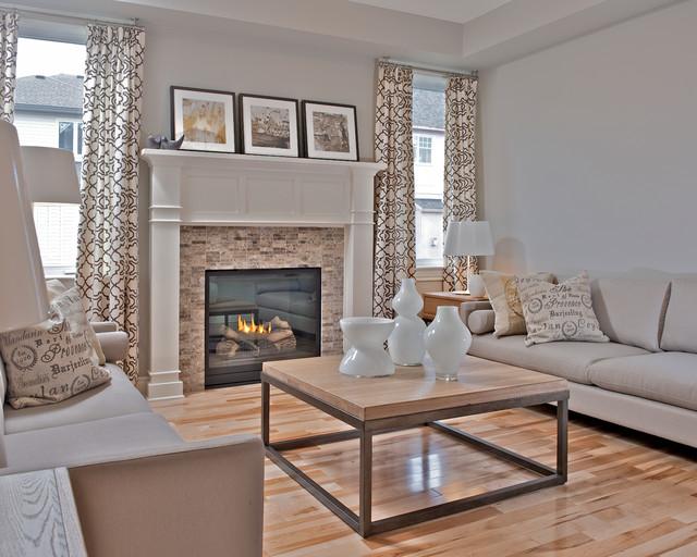 Elegant living room photo in Ottawa